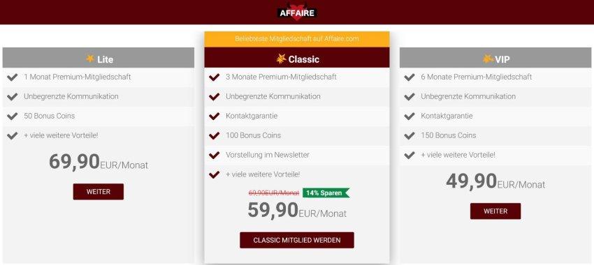 Unsere Erfahrungen mit Affaire.com