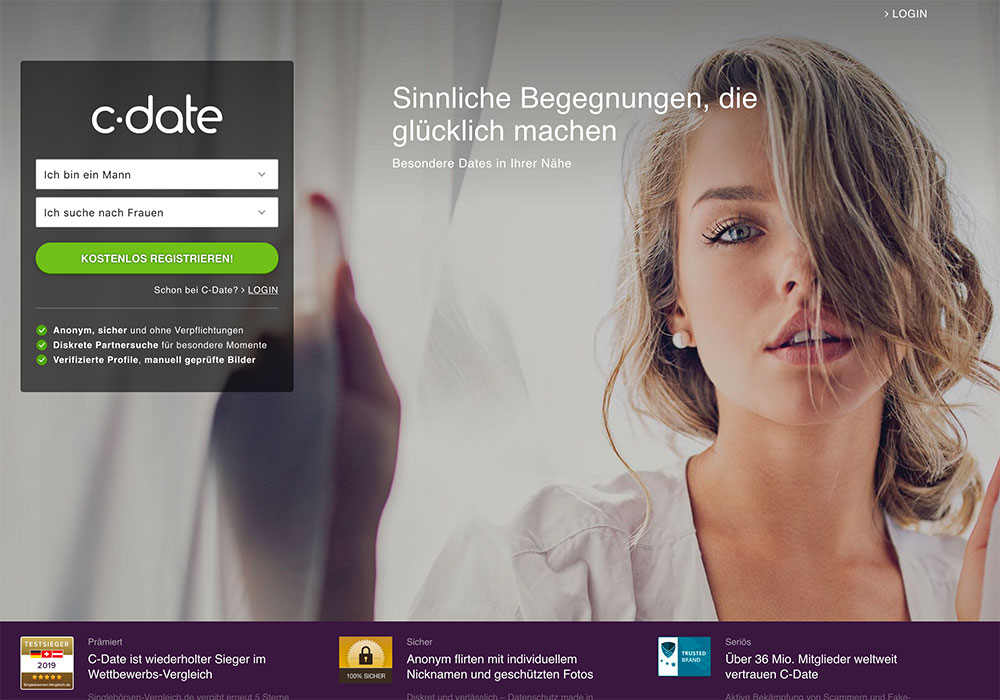 Dating-Website-Anwendung auf Brombeere